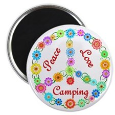 Camping Peace Sign Magnet