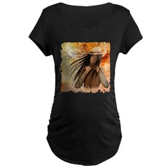 """""""Unbound"""" Maternity Dark T-Shirt"""