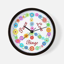 Bingo Peace Sign Wall Clock