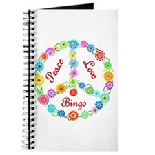 Bingo Peace Sign Journal