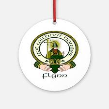 Flynn Clan Motto Ornament (Round)