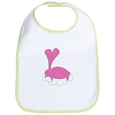 Unique Pink bunny Bib