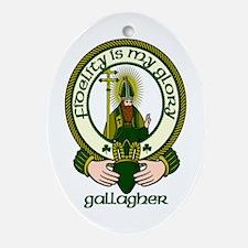 Gallagher Clan Motto Oval Ornament