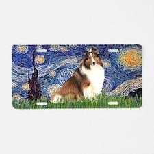 Starry-Shetland Sheepdog 7 Aluminum License Plate