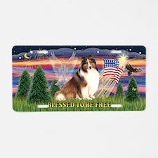Free - Shetland Sheepdog Aluminum License Plate