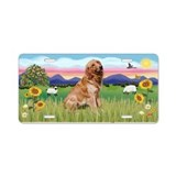 Art golden retriever License Plates