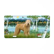 Birches/Wheaten Terrier Aluminum License Plate
