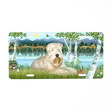 Birches / Wheaten Terrier lAluminum License Plate