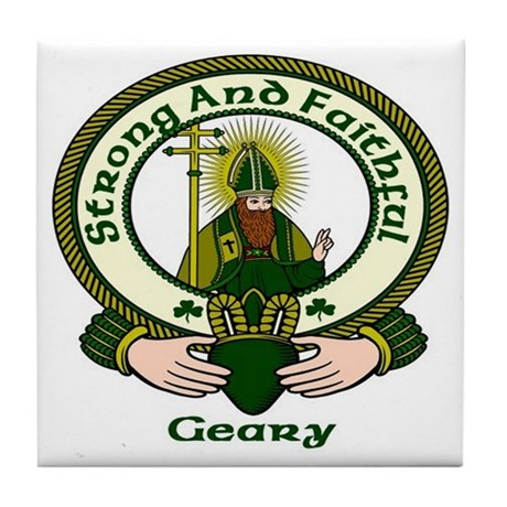 Geary Clan Motto Ceramic Tile