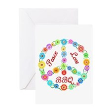 BBQ Peace Sign Greeting Card