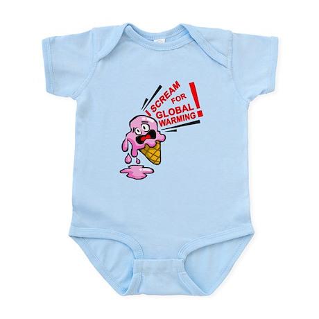 I scream for global warming! Infant Bodysuit