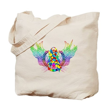 Awareness Tribal Puzzle Tote Bag
