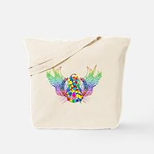 Awareness Tribal Puzzle Tote Bag