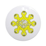 Bladder Cancer Hope Unity Ornament (Round)
