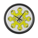 Bladder Cancer Hope Unity Large Wall Clock
