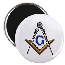 """Masonic Square and Compass 2.25"""" Magnet (10 pack)"""