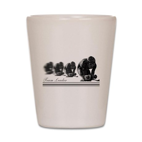 group cycling team leader Shot Glass