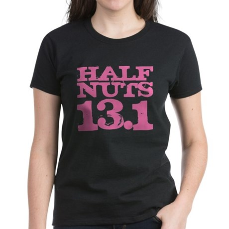 Half Nuts Half Marathon Pink Women's Dark T-Shirt
