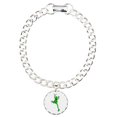 Green Peace Frog Charm Bracelet, One Charm
