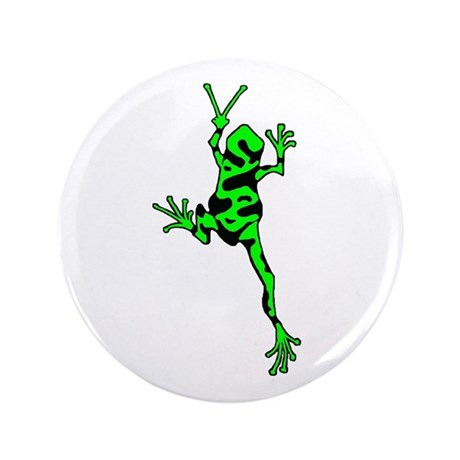 """Green Peace Frog 3.5"""" Button (100 pack)"""
