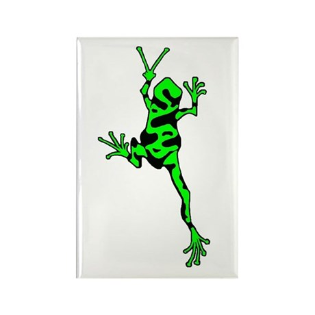 Green Peace Frog Rectangle Magnet