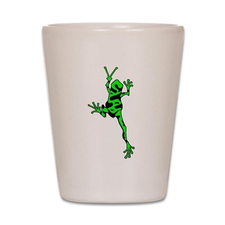 Green Peace Frog Shot Glass