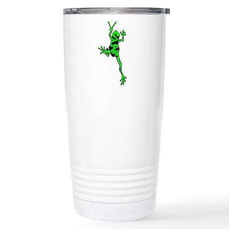 Green Peace Frog Stainless Steel Travel Mug