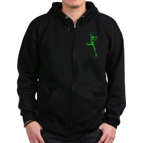 Green Peace Frog Zip Hoodie (dark)