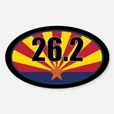 Arizona State Full Marathon 26.2 Sticker (Oval)