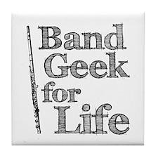 Flute Band Geek Tile Coaster