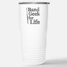Flute Band Geek Stainless Steel Travel Mug