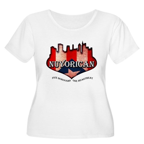 NuYoRicaN Women's Plus Size Scoop Neck T-Shirt