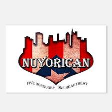 NuYoRicaN Postcards (Package of 8)