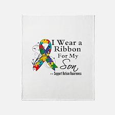 Son - Autism Ribbon Throw Blanket