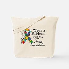 Son - Autism Ribbon Tote Bag