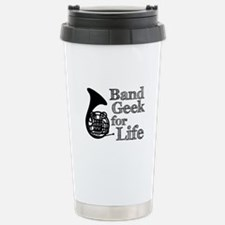 French Horn Band Geek Travel Mug