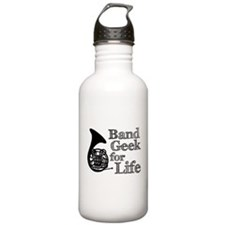 French Horn Band Geek Water Bottle