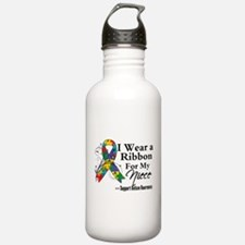 Niece - Autism Ribbon Water Bottle
