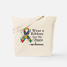 Niece - Autism Ribbon Tote Bag