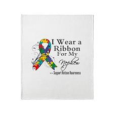 Nephew - Autism Ribbon Throw Blanket