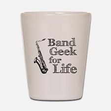 Saxophone Band Geek Shot Glass