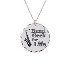 Saxophone Band Geek Necklace