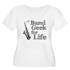 Saxophone Band Geek T-Shirt