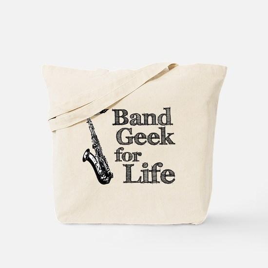 Saxophone Band Geek Tote Bag