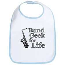 Saxophone Band Geek Bib