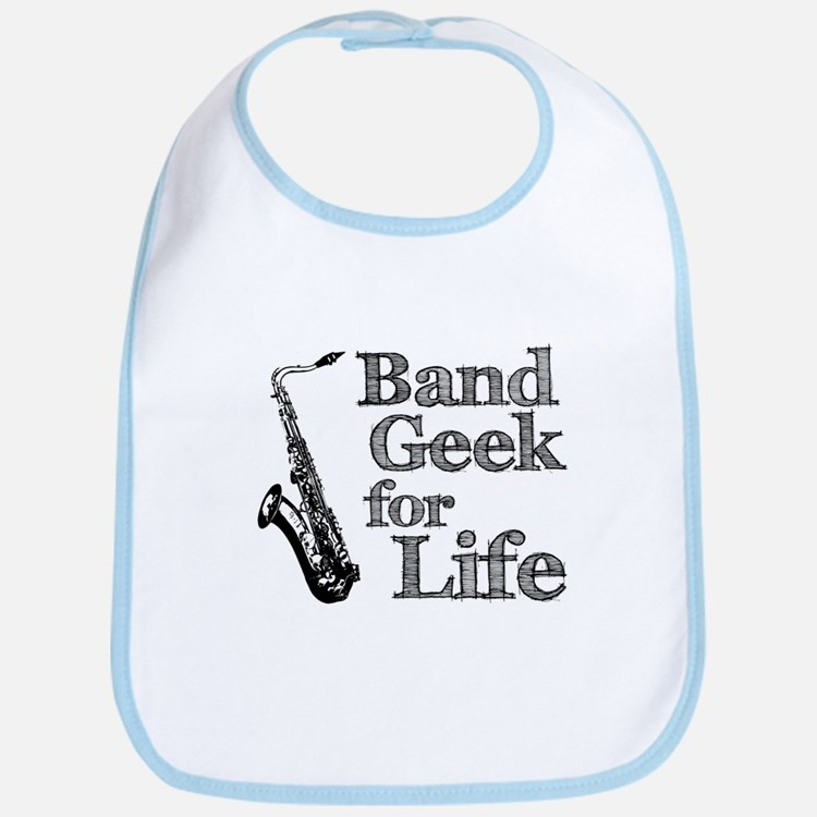 Saxophone Band Geek Bib