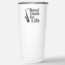 Saxophone Band Geek Stainless Steel Travel Mug