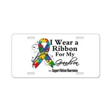 Grandson - Autism Ribbon Aluminum License Plate