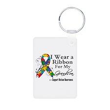 Grandson - Autism Ribbon Keychains