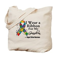 Grandson - Autism Ribbon Tote Bag